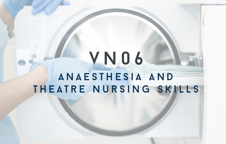 Course Image VN06 Anaesthesia and Theatre Nursing Skills